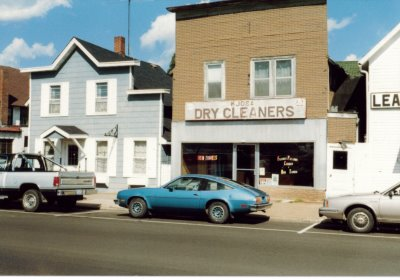 A historic dry cleaner building